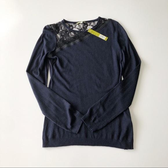 Gianni Bini Sweaters - Gianni Bini Navy Blue Long Sleeve Knit Sweater
